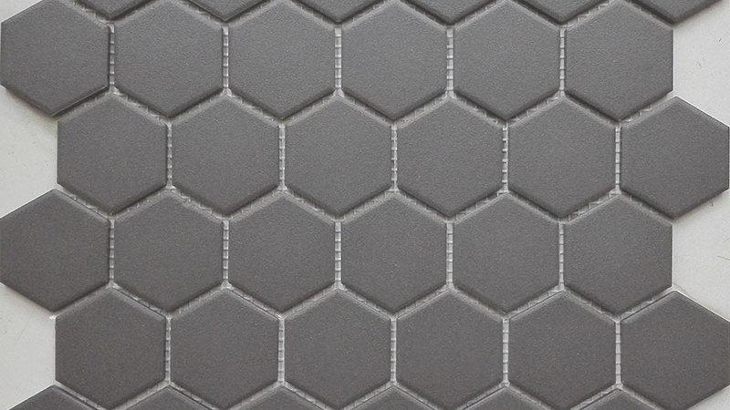 Charcoal Matt Hexagon 50mm