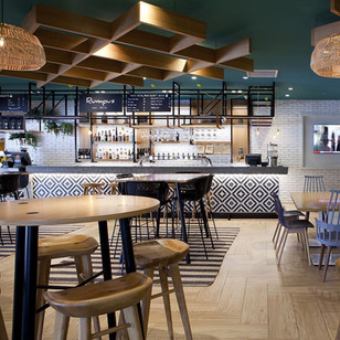 Impressive Wood Look Tiles At the Auckland Airport Holiday Inn