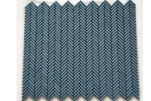 Mini Herringbone 107 Turquoise