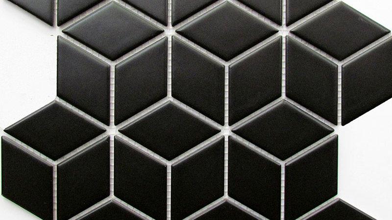 Diamond Cube Black Satin 48mm
