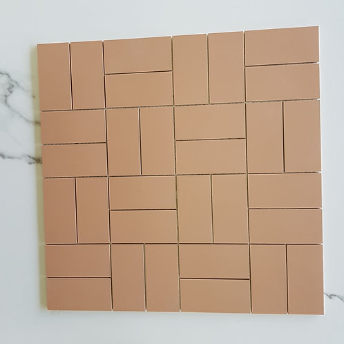 Basket Terracotta Mosaic 40x40 Microtile