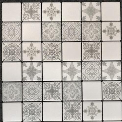 Chateau Fleur 4.8x4.8 Grey 30x30 Mosaic