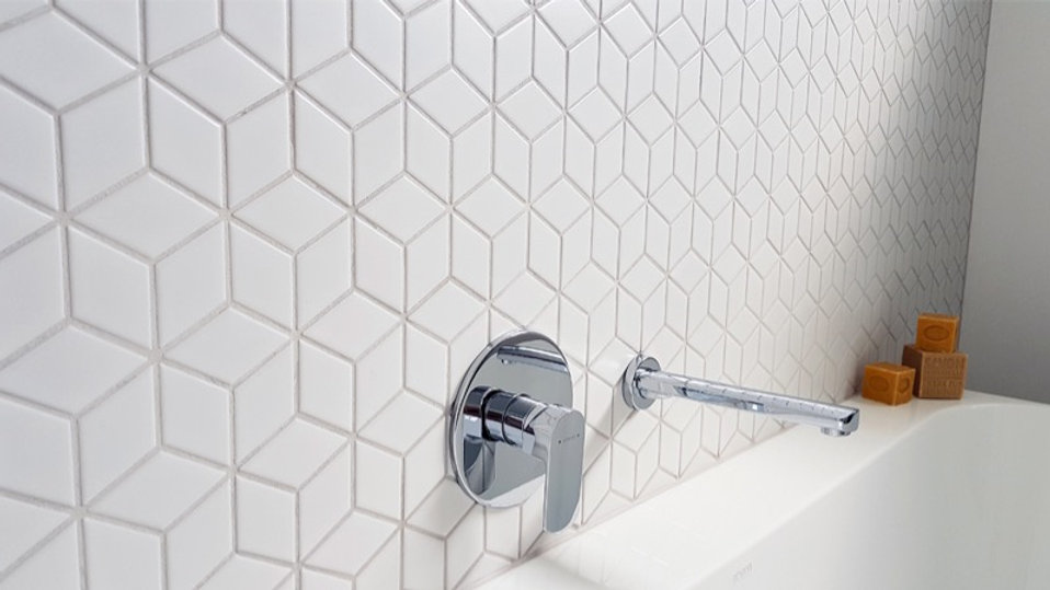 Diamond Cube White Satin 48mm