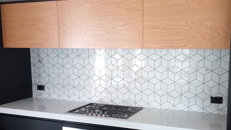 Absolute Carrara Cube Polished Mosaic
