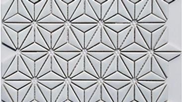 Geometric White Gloss Star Mosaic