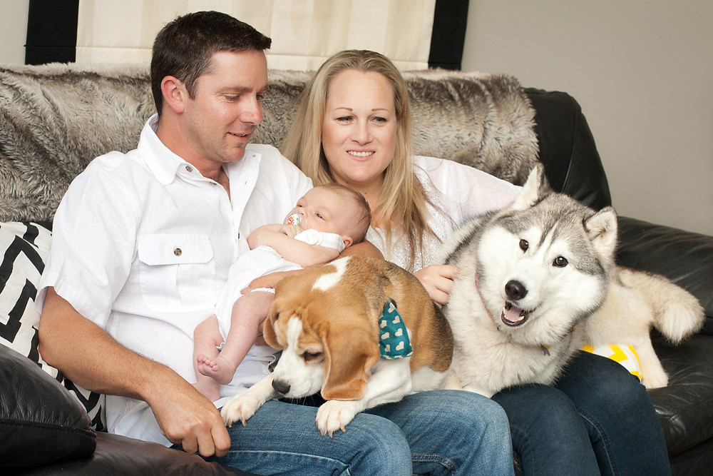 Ross, June, Logan, Maya & Ruby......the good old family picture never goes as planned.