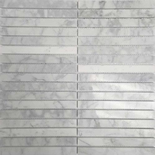 Carrara Polished Mosaic 15x150