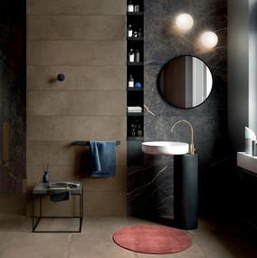 Black 60x120 | Worn Copper 30x120, 60x60