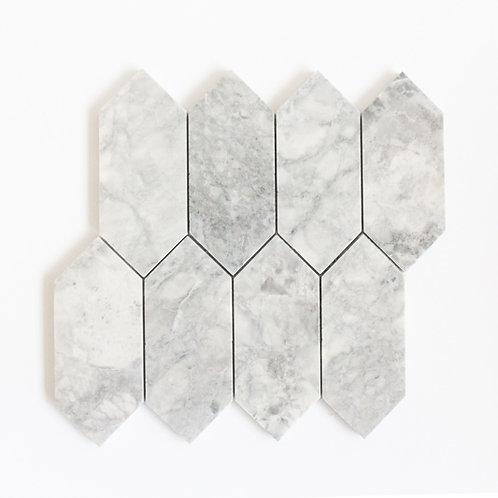 Casa Vita Stoneage Mosaic - Calacutta Grey Elongated Hexagon