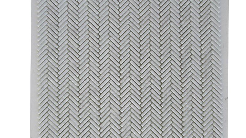 Mini Herringbone 96 White