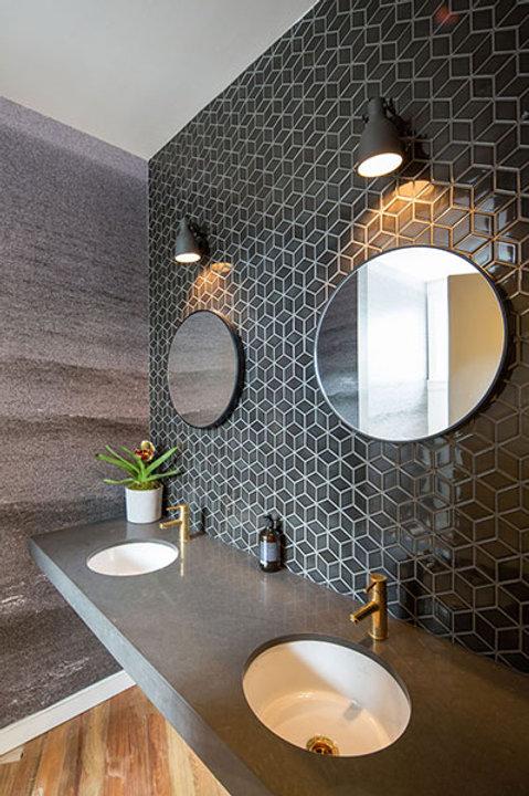 Cube Graphite Black Mosaic 48mm
