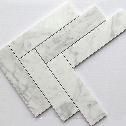 Carrara Herringbone 50x200 Pol