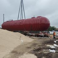 Wet set of a underground tank.