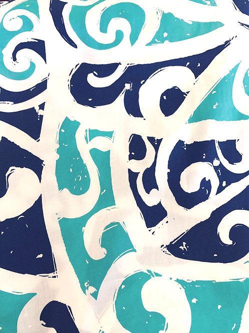 Koru Material (Teal & Dark Blue)