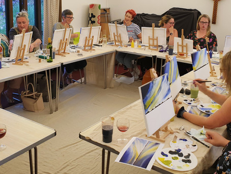 Three Art & Sip sessions in one week...