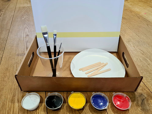 Zoom Art Pack - Everything needed to take part in a Zoom Art & Sip class