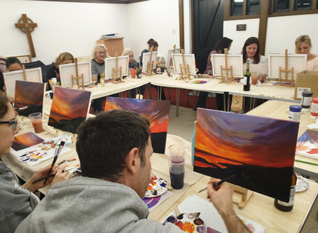 Largest Art & Sip Class to Date...