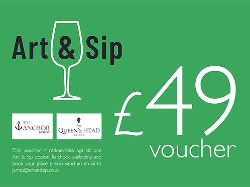 Acrylic Painting Voucher for The Anchor, Danbury or The Queens Head, Maldon