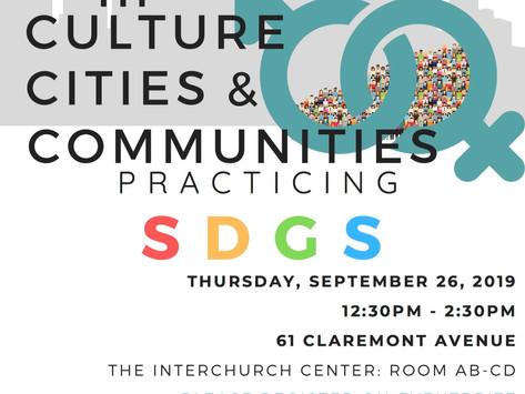 Gender in Culture Cities &Communities Practicing SDGs