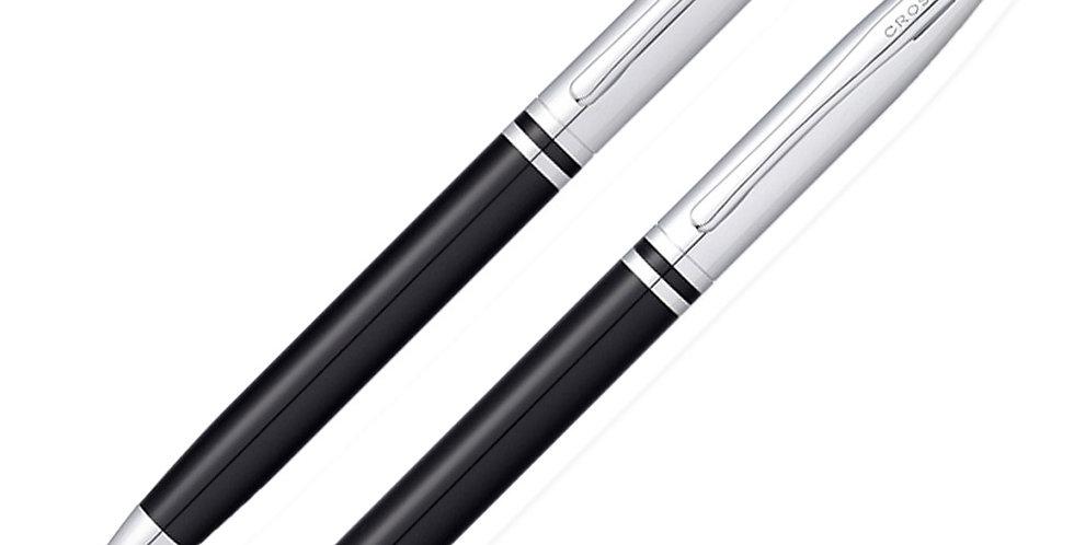 Cross Avitar Chrome Black Ball Pen+MP Set