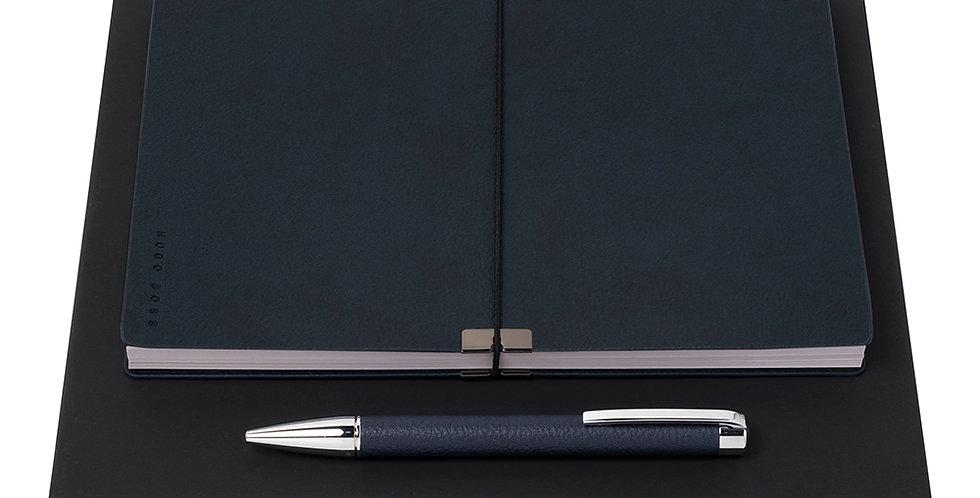 Hugo Boss Storyline D.Blue Pen+A5 NB Set-HSU7044N+H
