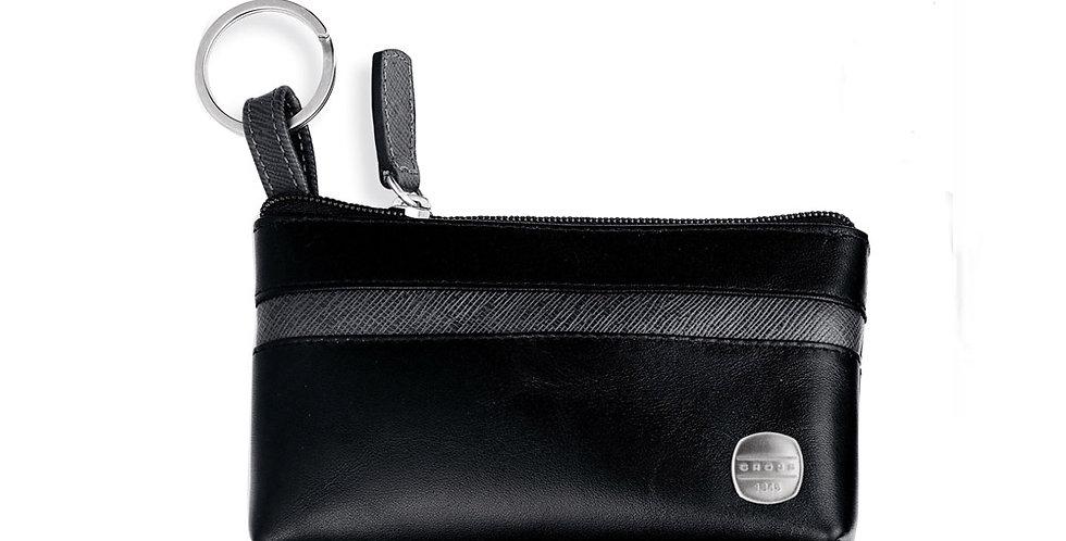 Cross Leather 1846 Ebony/C Grey Keyring Pouch