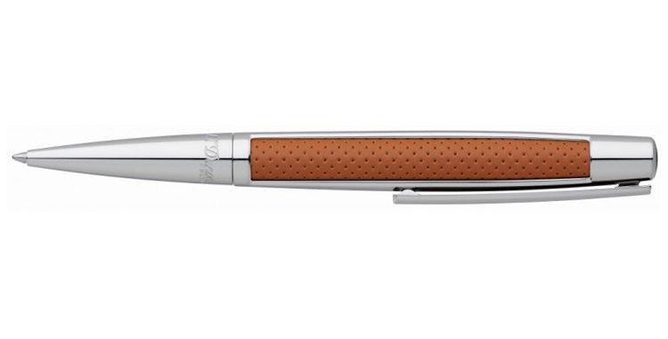 Dupont Defi Brown Leather / Palladium Ball Pen
