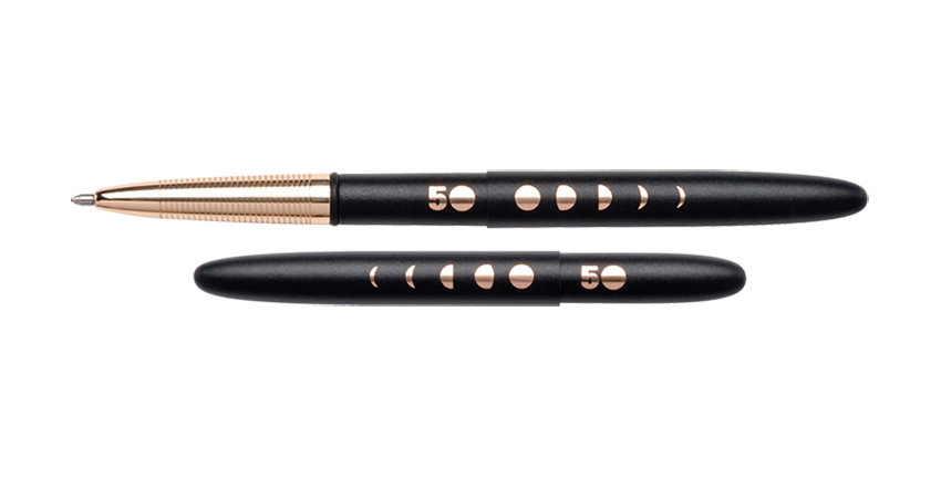 Fisher Special Edition Matte Black Bullet Space Pen w/ Lunar Cycles Engraving