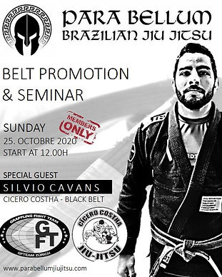 NEW BELT PROMOTION & SEMINAR FLYER WITH