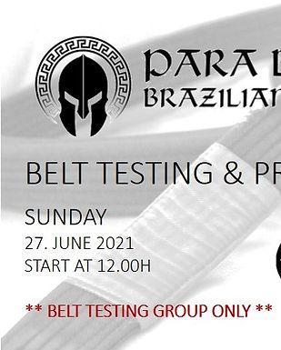 BELT TESTING AND PROMOTION 27.JUNE 2021