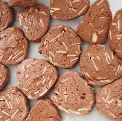 ココアとアーモンドのクッキー