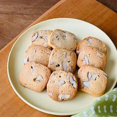 ひよこ豆粉とクルミのクッキー