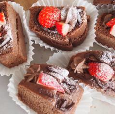 2019バレンタインレッスン:チョコレートケーキサンド(プラントベース))