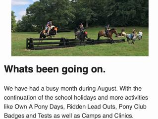 Septembers Newsletter