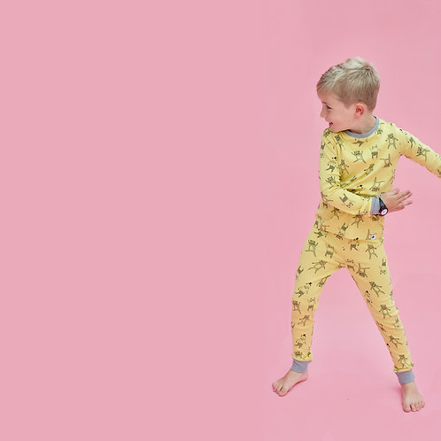Yellow Bear Children's Pyjama Set