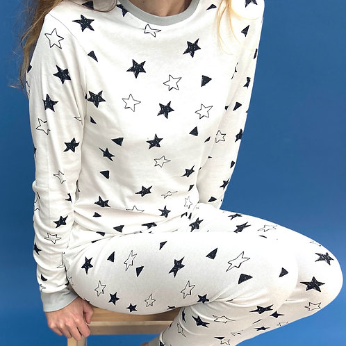 Wholesale Adults Christmas Star  Pyjama Set