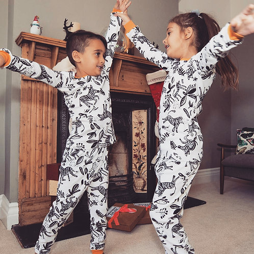 Mono Zebra Children's Pyjama Set