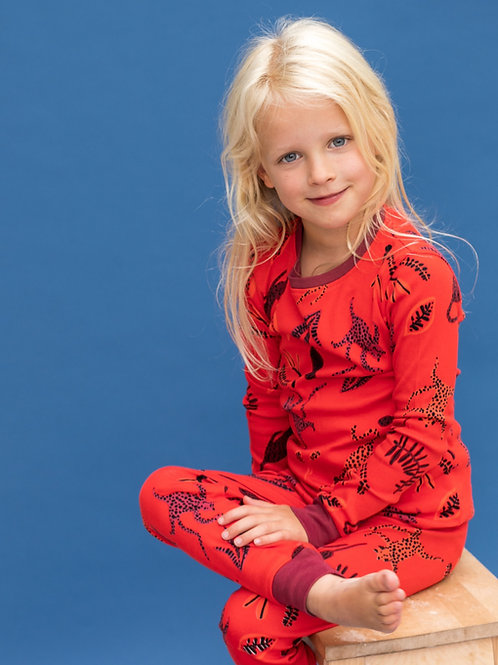 Wholesale Red Dancing Leopard PJ Set