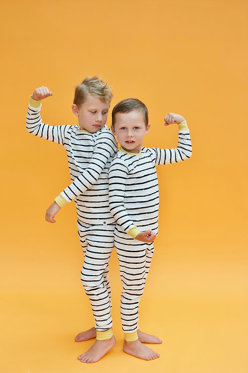 Mono Stripe Children's Pyjama Set
