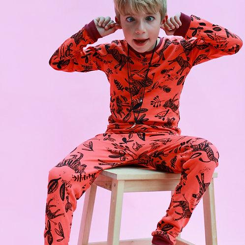 Coral Zebra Children's Pyjama Set