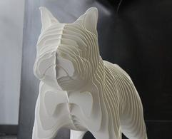 RINA DOG XL, Matte White