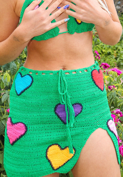 LOVEBUG SKIRT - GREEN