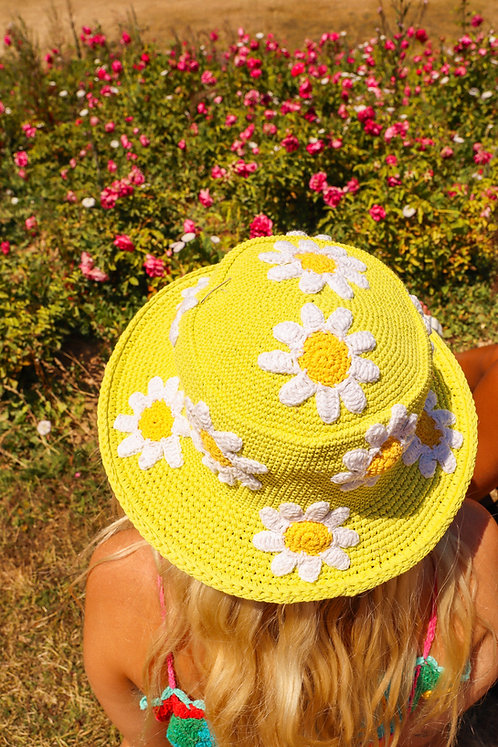LIME DAISY HAT