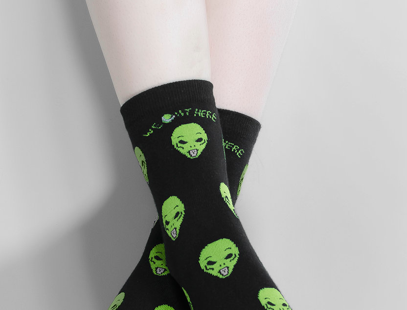 Acid Alien Socks