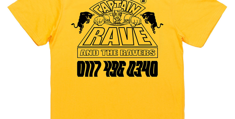 Captain Rave Yellow Tee