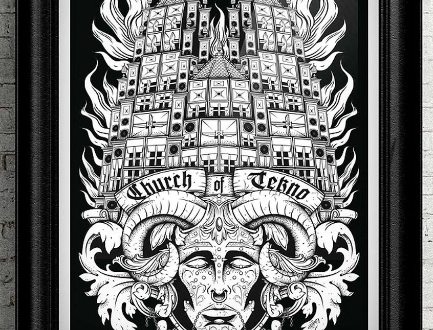 Church Of Tekno Print