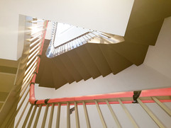 Staircase in townhouse
