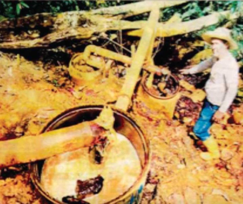 Descargas de desechos mineros