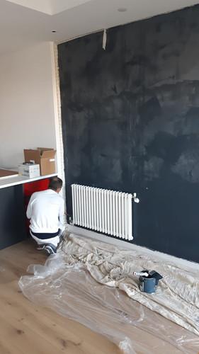 Applying stucco