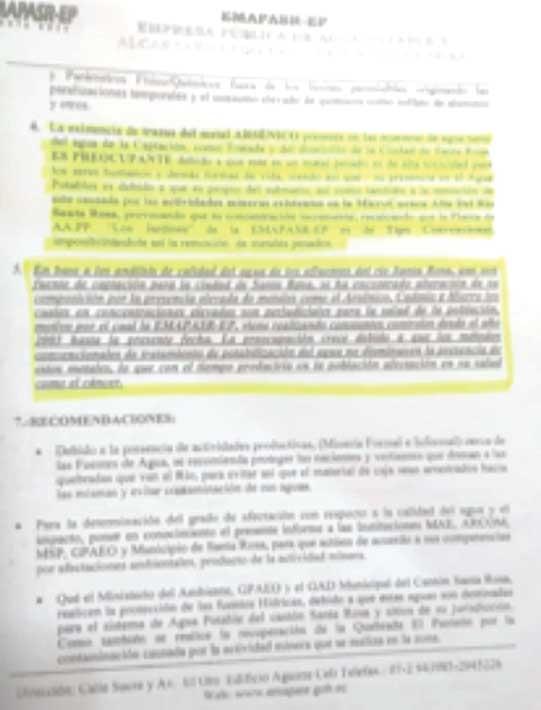 Informe Técnico (Grupo Químico Marcos)